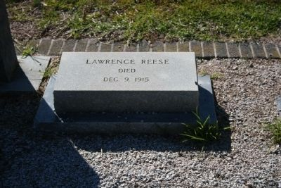 Lawrence Reese Headstone in Darlington Memorial Cemetery image. Click for full size.