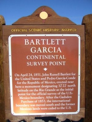 Bartlett Garcia Continental Survey Point Marker image. Click for full size.