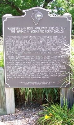 Washburn and Moen Manufacturing Company Marker image. Click for full size.