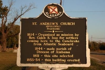 St. Andrew's Church Marker image. Click for full size.