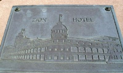 Zion Hotel Image on Marker image. Click for full size.