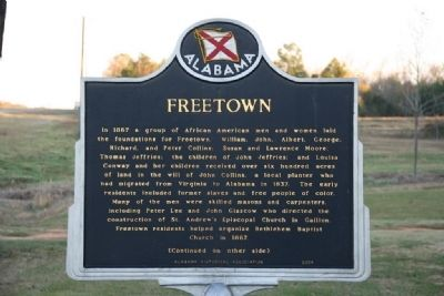 Freetown Marker (Side A) image. Click for full size.