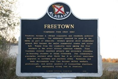Freetown Marker (Side B) image, Touch for more information
