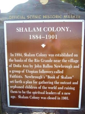 Shalam Colony Marker image. Click for full size.