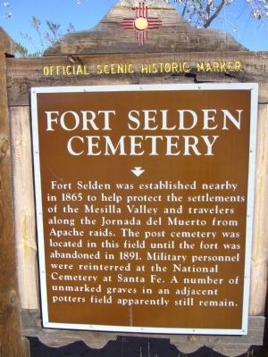 Fort Selden Cemetery Marker image. Click for full size.