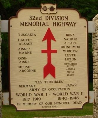 32nd Division Memorial Highway Marker image. Click for full size.