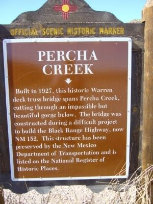Percha Creek Marker image. Click for full size.