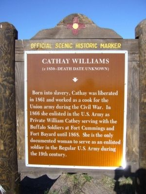 Cathay Williams Marker image. Click for full size.