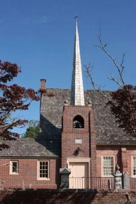 Saint George's Chapel Entrance, Belfry and Steeple image. Click for full size.