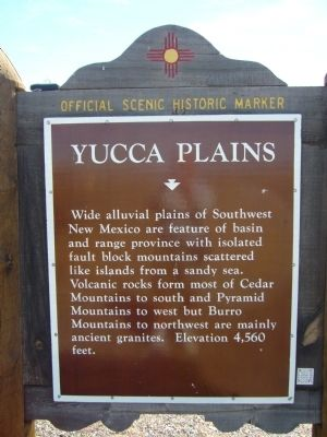 Yucca Plains Marker image. Click for full size.