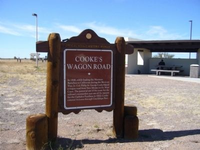Cooke's Wagon Road Marker image. Click for full size.