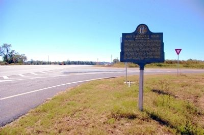 Old Savannah Road Marker image. Click for full size.