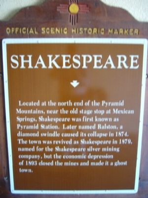 Shakespeare Marker image. Click for full size.