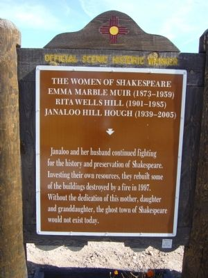 <i>back of</i> The Women of Shakespeare Marker image. Click for full size.