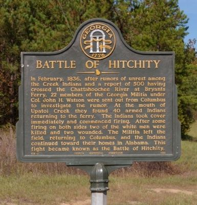 Battle of Hitchity Marker image. Click for full size.