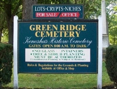 Green Ridge Cemetery Sign image. Click for full size.