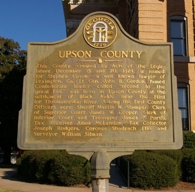 Upson County Marker image. Click for full size.