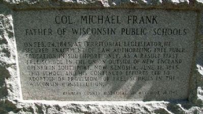 Colonel Michael Frank Memorial Detail image. Click for full size.
