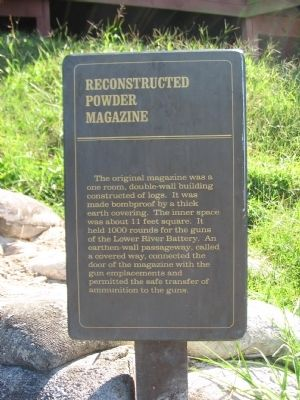 Reconstructed Powder Magazine Marker image. Click for full size.
