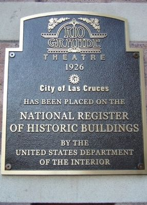 Rio Grande Theatre Marker image. Click for full size.