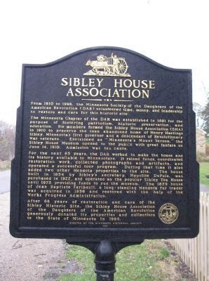 Sibley House Association Marker image. Click for full size.