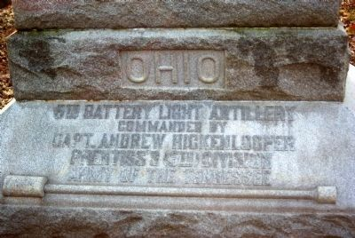 Ohio 5th Battery Light Artillery Monument image. Click for full size.
