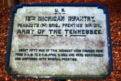 12th Michigan Infantry Tablet image. Click for full size.