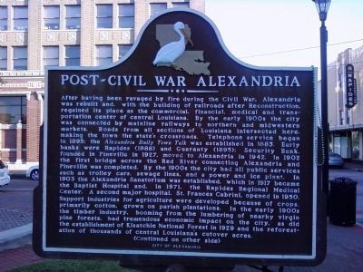 Post-Civil War Alexandria Marker (Side A) image. Click for full size.