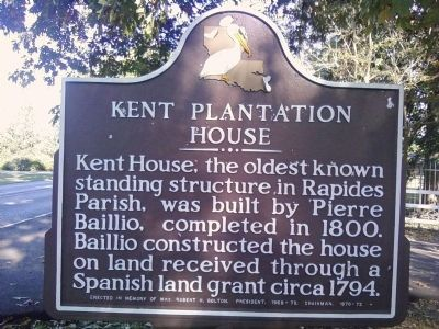 Kent Plantation House Marker image. Click for full size.