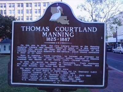 Thomas Courtland Manning Marker image. Click for full size.