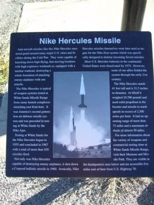 Nike Hercules Missile Marker image. Click for full size.