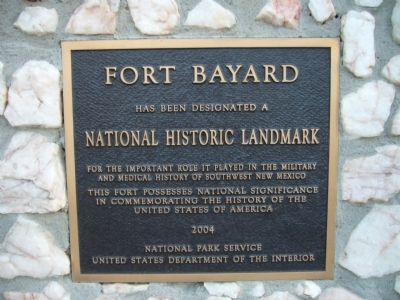 Fort Bayard Marker image. Click for full size.