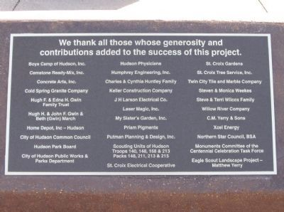Donor Recognition Plaque image. Click for full size.