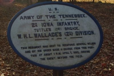 2nd Iowa Infantry Marker image. Click for full size.