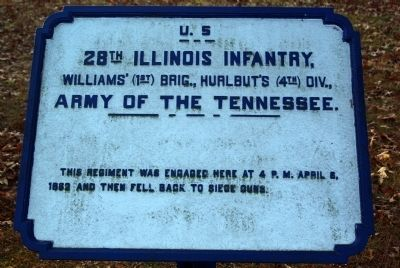 28th Illinois Infantry Marker image. Click for full size.
