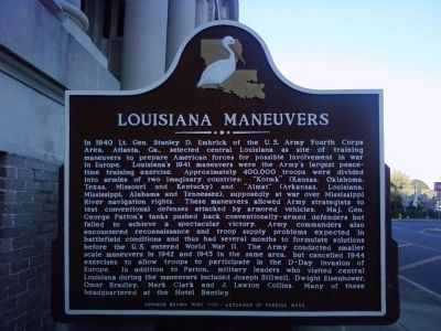 Louisiana Maneuvers Marker image. Click for full size.