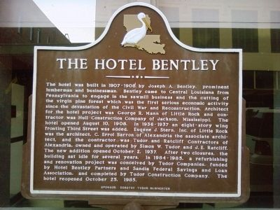 The Hotel Bentley Marker image. Click for full size.