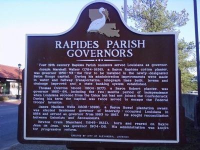 Rapides Parish Governors Marker image. Click for full size.