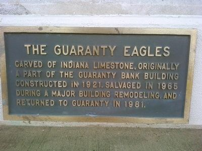 The Guaranty Eagles Marker image. Click for full size.