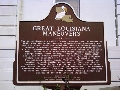 Great Louisiana Maneuvers Marker image. Click for full size.