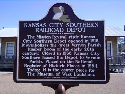 Kansas City Southern Railroad Depot Marker image. Click for full size.