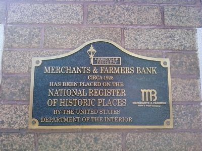 Merchants & Farmers Bank Marker image. Click for full size.