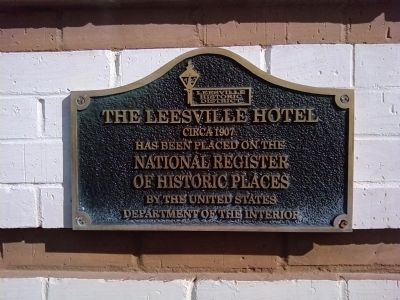 The Leesville Hotel Marker image. Click for full size.