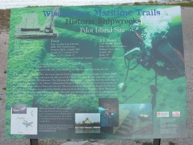 Pilot Island Site Marker image. Click for full size.