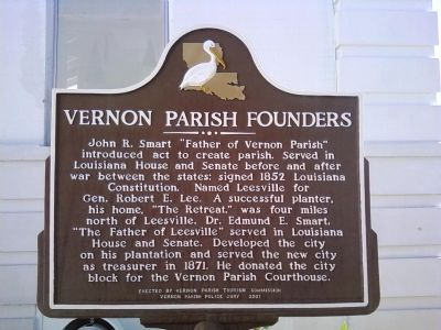 Vernon Parish Founders Marker image. Click for full size.