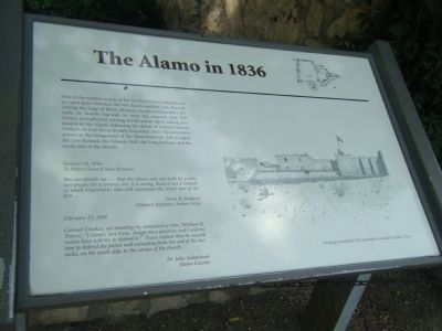 The Alamo in 1836 Marker image. Click for full size.