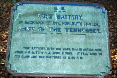 Ross' Battery, 2nd Michigan Light Artillery Marker image. Click for full size.