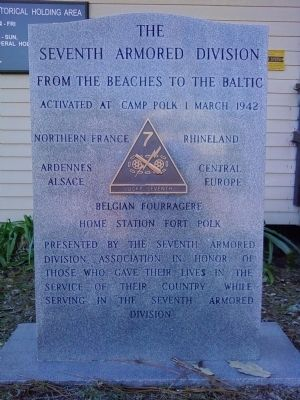 Seventh Armored Division Marker image. Click for full size.