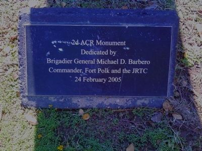 2nd Armored Cavalry Regiment Marker image. Click for full size.