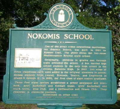 Nokomis School Marker image. Click for full size.
